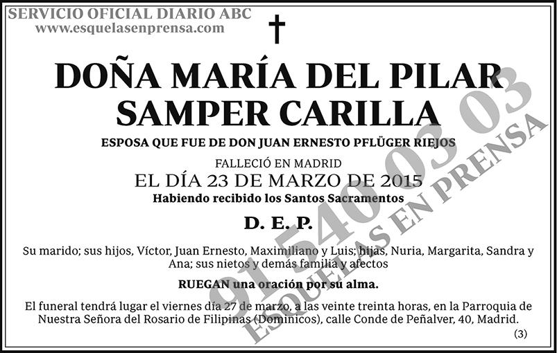María del Pilar Samper Carilla
